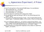 n e appearance experiment a primer