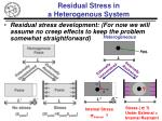 residual stress in a heterogenous system
