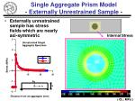 single aggregate prism model externally unrestrained sample1