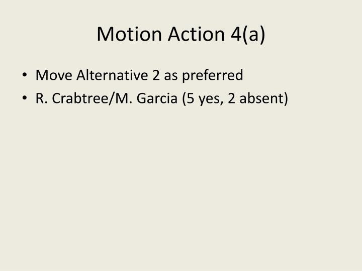 Motion Action 4(a)