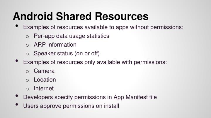 Android Shared Resources