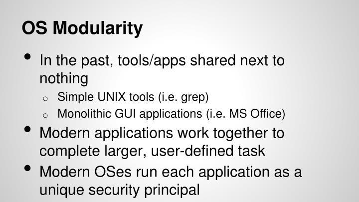 OS Modularity