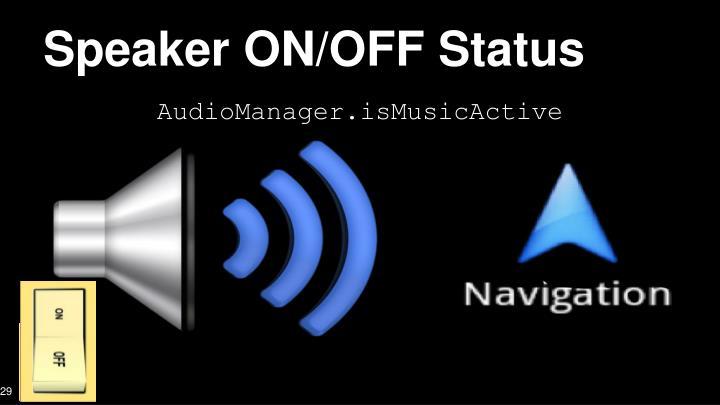 Speaker ON/OFF Status