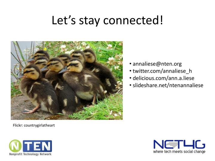 Let's stay connected!