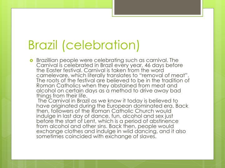 Brazil celebration