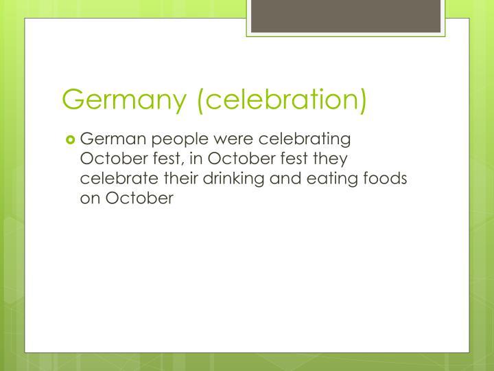 Germany (celebration)