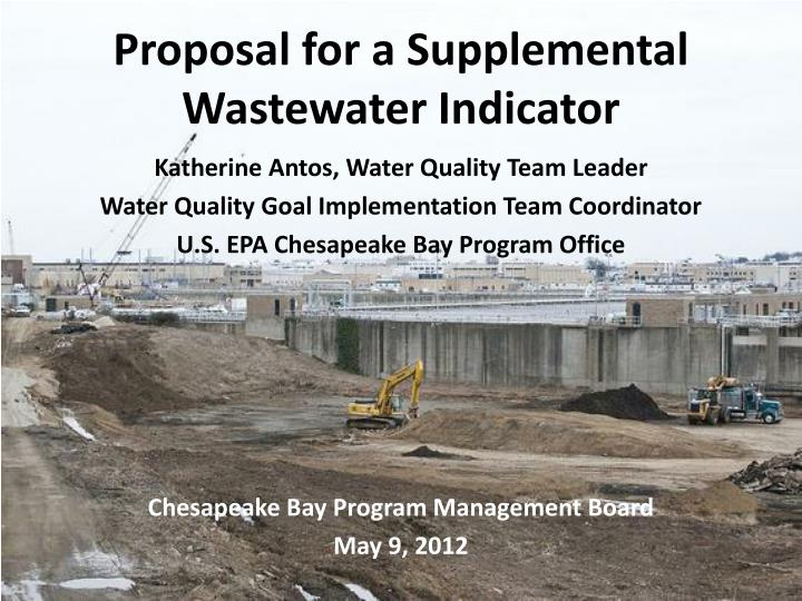 Proposal for a supplemental wastewater indicator