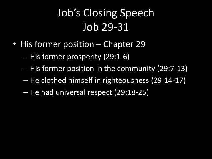Job's Closing Speech