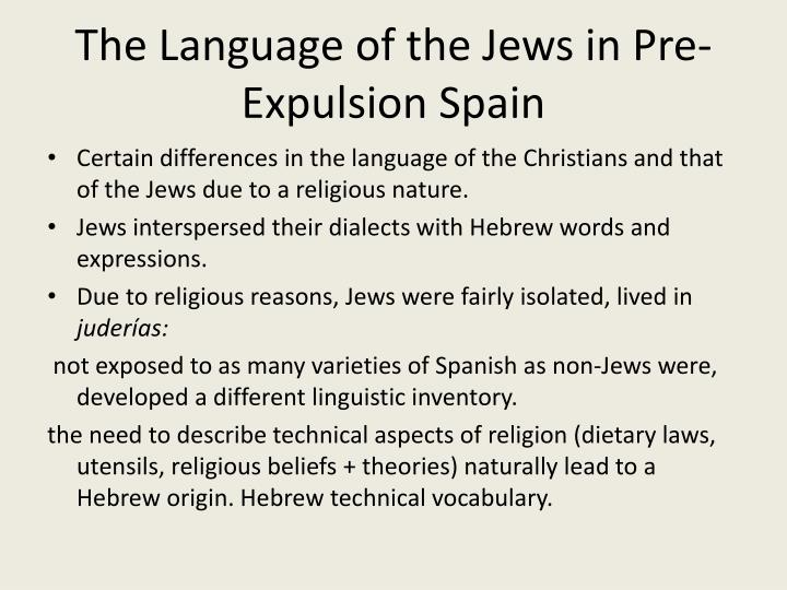 The Language of the Jews in Pre-Expulsion Spain