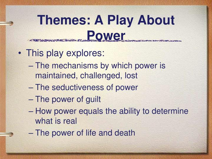 Themes: A Play About Power