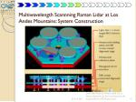 multiwavelength scannning raman lidar at los andes mountains system construction1