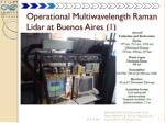 operational multiwavelength raman lidar at buenos aires 1