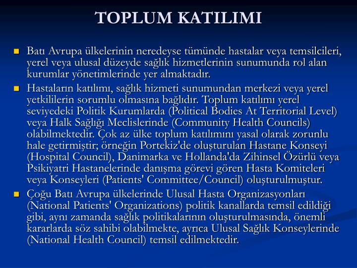 TOPLUM KATILIMI