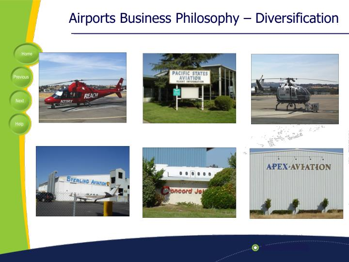 Airports Business Philosophy – Diversification