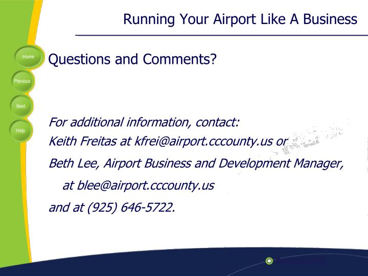 Running Your Airport Like A Business