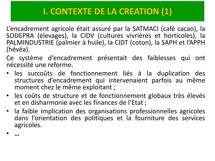 I contexte de la creation 1