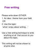 free writing1