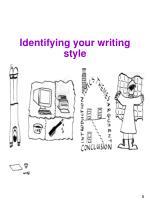 identifying your writing style