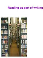 reading as part of writing