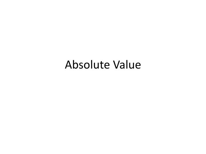 absolute value n.