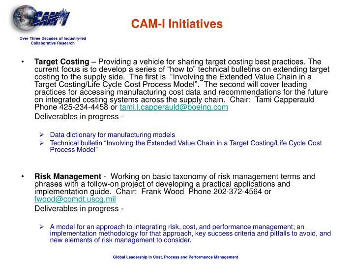 CAM-I Initiatives