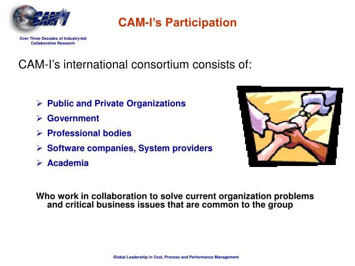 CAM-I's international consortium consists of: