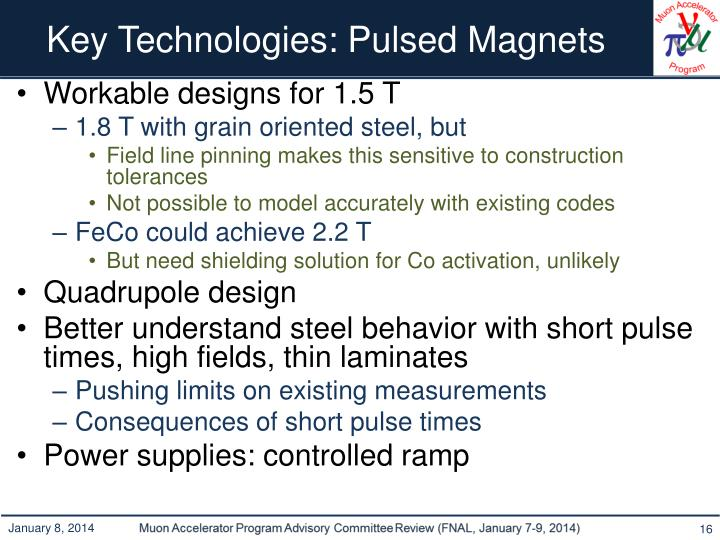 Key Technologies: Pulsed Magnets
