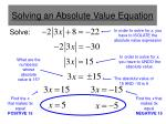 solving an absolute value equation3