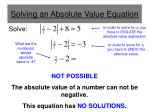 solving an absolute value equation5
