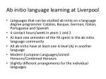 ab initio language learning at liverpool