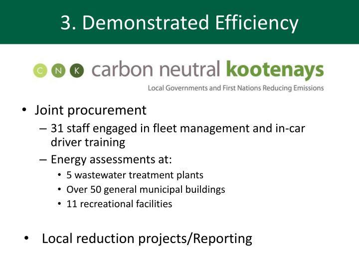 3. Demonstrated Efficiency