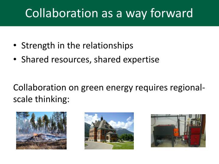 Collaboration as a way forward