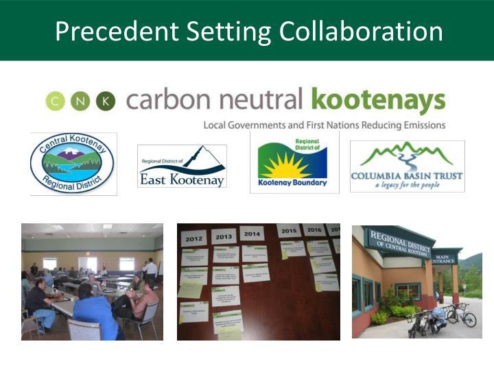 Precedent Setting Collaboration