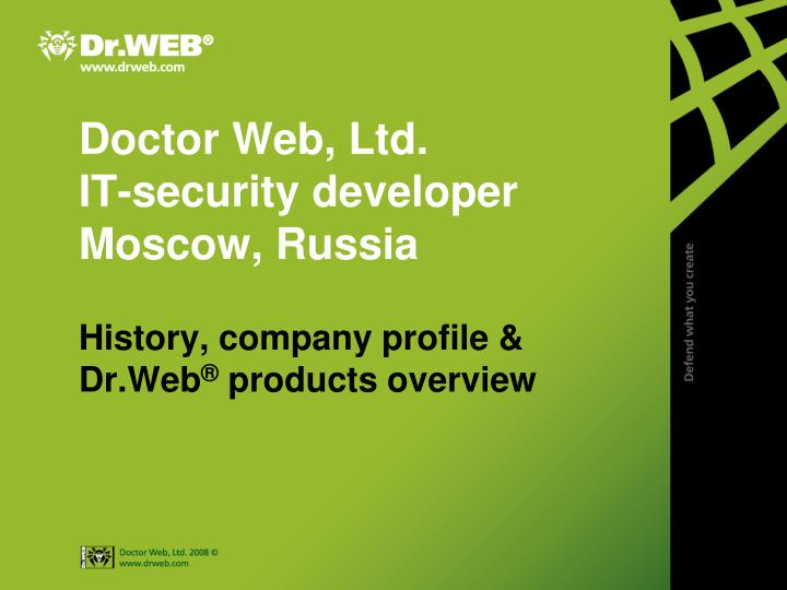 doctor web ltd it security developer moscow russia n.