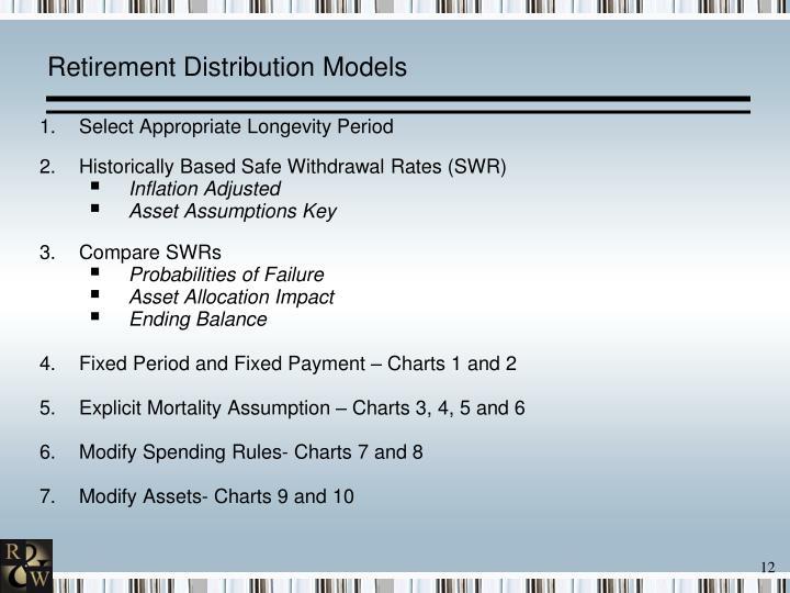 Retirement Distribution Models