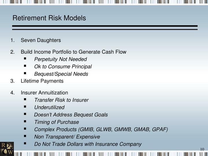 Retirement Risk Models