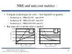 nre and unit cost metrics1