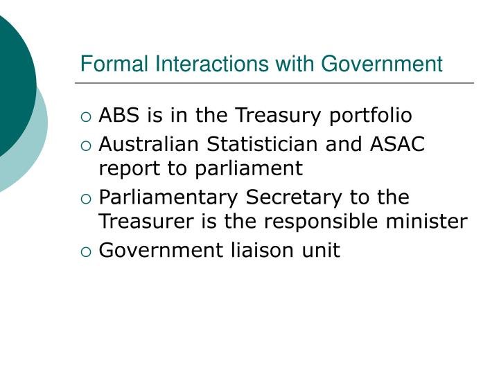 Formal Interactions with Government