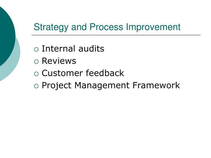 Strategy and Process Improvement