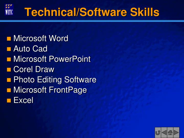 Technical/Software Skills
