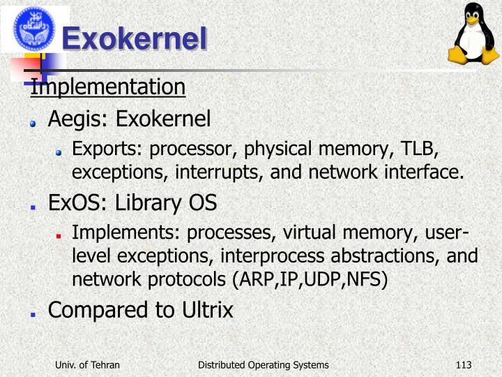 Exokernel