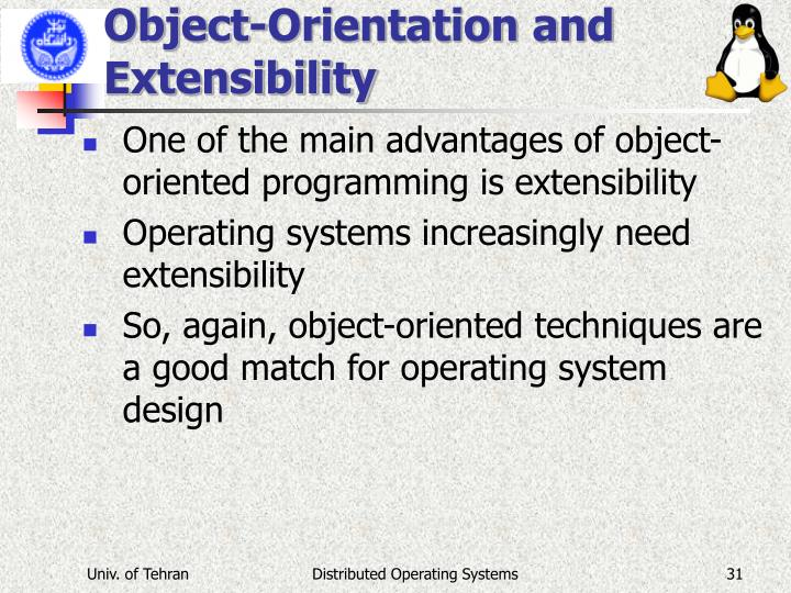 Object-Orientation and Extensibility