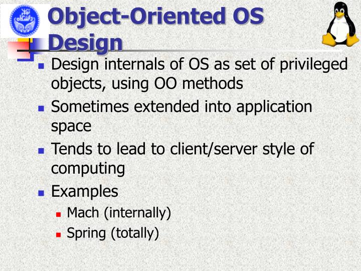 Object-Oriented OS Design