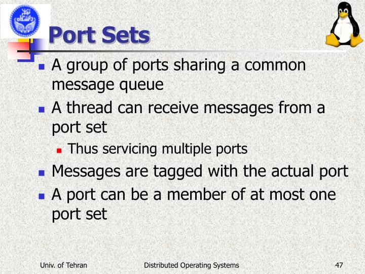 Port Sets