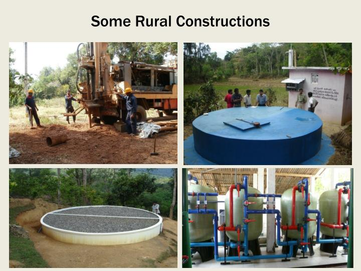 Some Rural Constructions