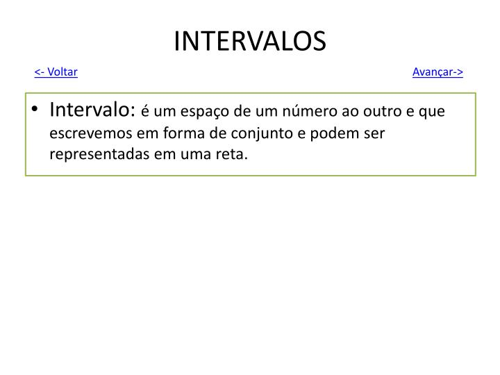 INTERVALOS