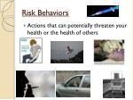 risk behaviors