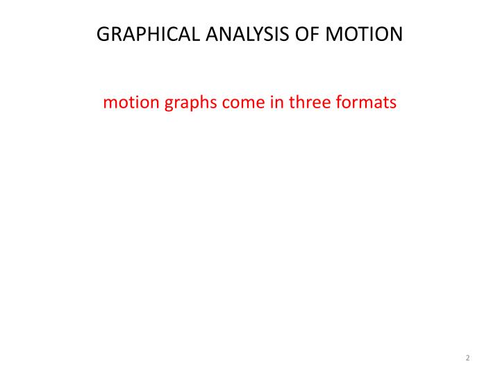 Graphical analysis of motion1