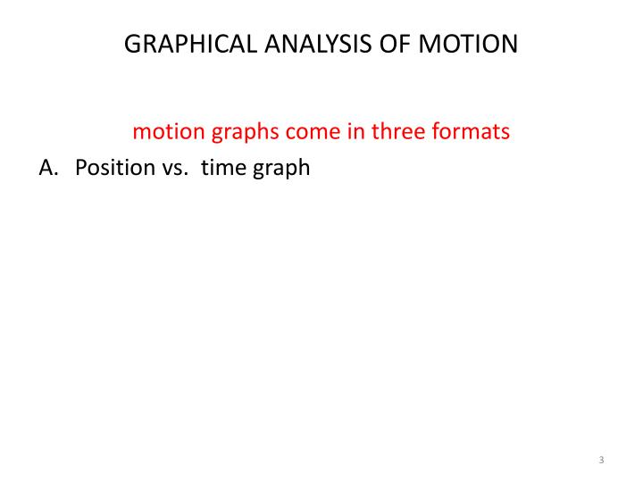 Graphical analysis of motion2