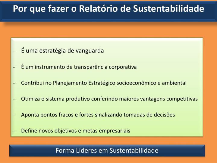 Por que fazer o Relatório de Sustentabilidade